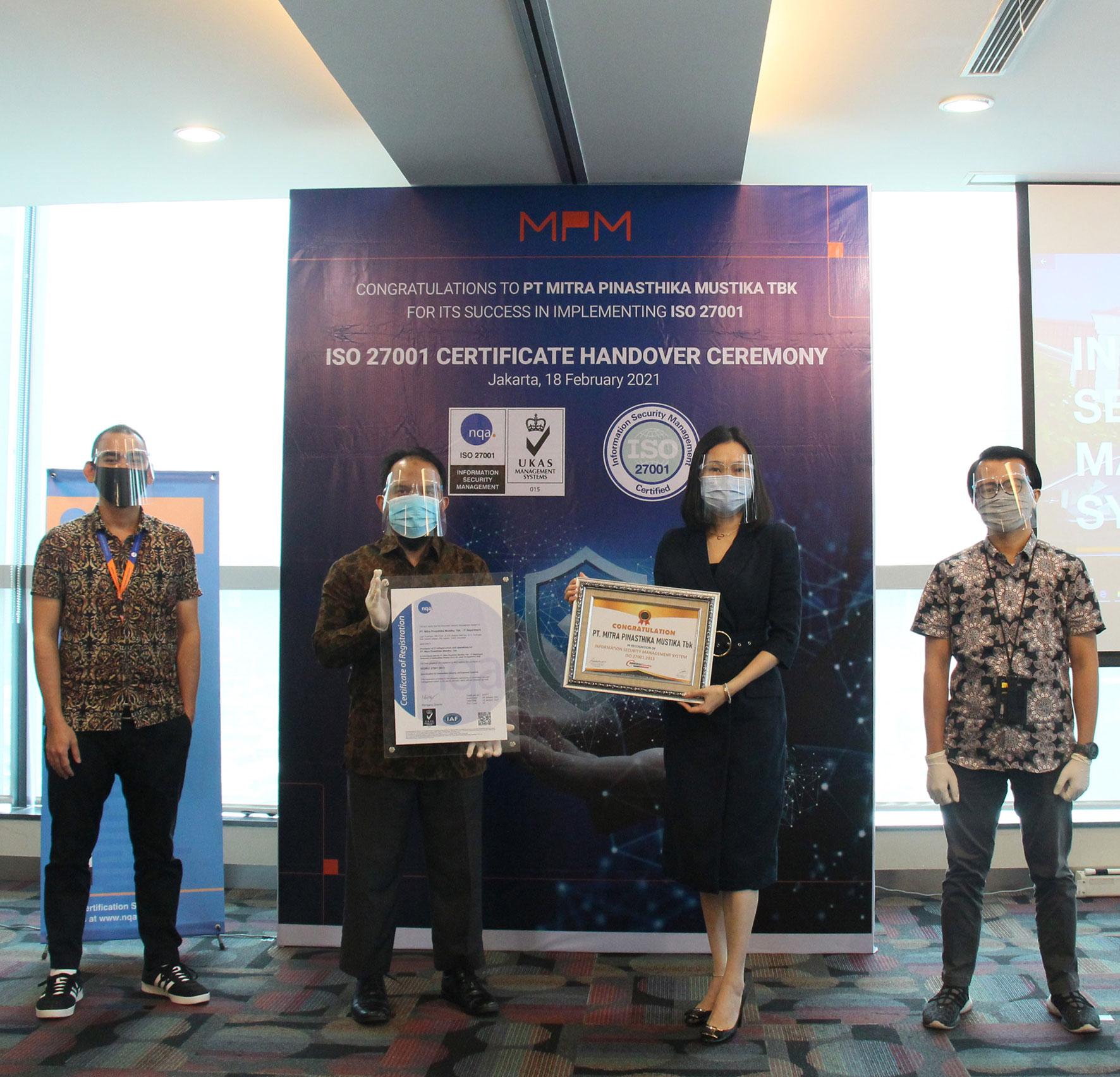MPM Raih Sertifikasi ISO 27001